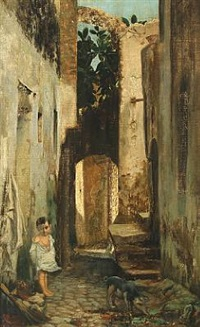 alley in rome by wenzel ulrik tornoe