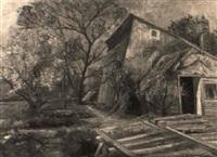 obstgarten in blüthe, hietzing by hermine von janda