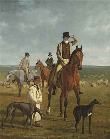 lord rivers out coursing on newmarket heath by jacques laurent agasse