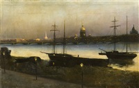st. petersburg by night by nikolai nikanorovich dubovskoy