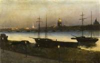 st. petersburg by night by nikolai nikanorovich dubovskoy