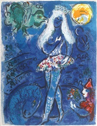 pl. 27, from le cirque by marc chagall