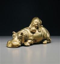 hippopotamus sculpture by gabriella crespi