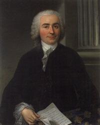 portrait d'homme tenant une lettre by claude arnulphy