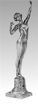 a figure of a female nude by p. philippe