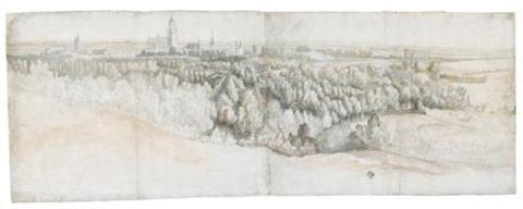 panoramic view of arnhem seen from the north by adam frans van der meulen