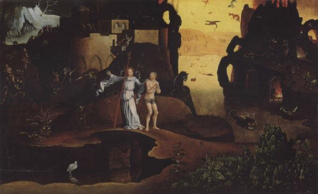 a guardian angel showing a lost soul through the underworld by jan mandijn