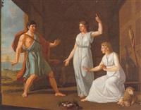 mythologische szene by ernst friedrich ferdinand robert