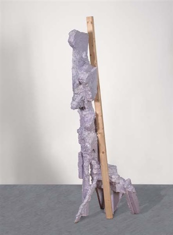 untitled lavendertall giraffe dog by rachel harrison