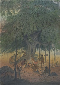 untitled (under the banyan tree) by badri nath arya