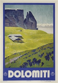 dolomiti (poster; + another; pair) by franz lenhart