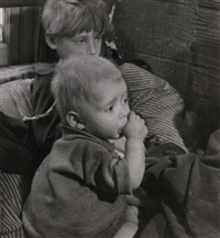 children in the kattenburg neighbourhood, amsterdam by emmy andriesse