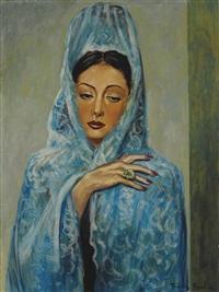 espagnole ou femme à la mantille bleue by francis picabia