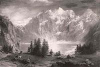 alpine lake landscape by johann jakob vollweider