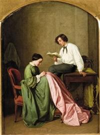 les jeunes mariés by léon-joseph billotte