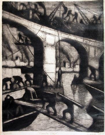 puente viejo by benito quinquela martín