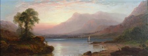 a sublime landscape with a loch by george blackie sticks