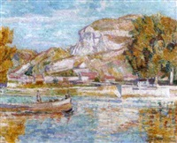 the seine at vernon near paris by edgar rowley smart
