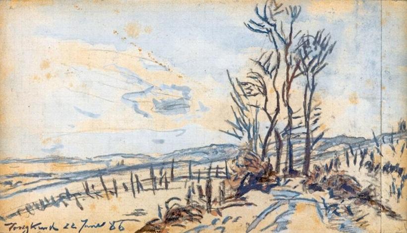 route à la côte saint andré by johan barthold jongkind
