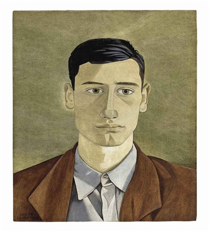 head of a greek man by lucian freud