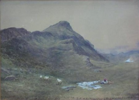 the pentland hills by samuel bough