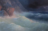 storm on the black sea by ivan konstantinovich aivazovsky