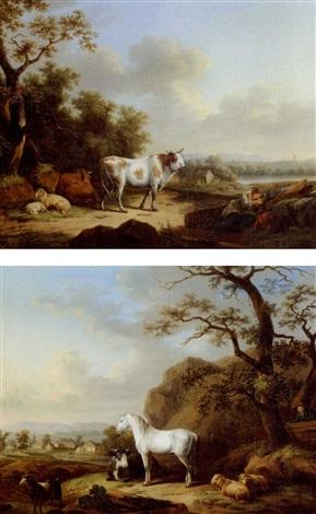 landschaft another similar pair by johann dallinger von dalling