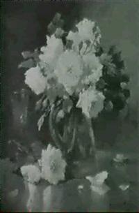 glas mit rosen by t. langlois