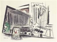nassau street, new york by john marin
