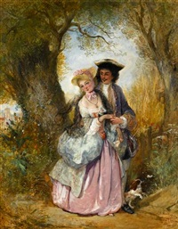 a courting couple by henry andrews