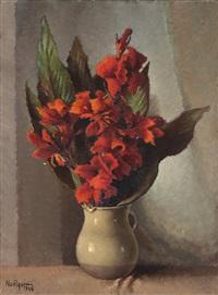 vaso con fiori rossi by noel quintavalle
