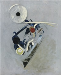 painting vi (camera flashlight, machine still life) by morton livingston schamberg