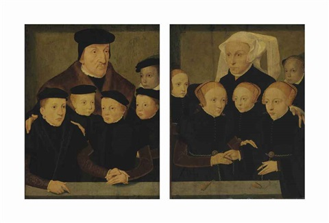 father and sons mother and daughters pair by bartholomäus barthel bruyn the younger