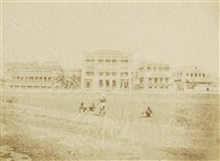 view of mountain's hotel in calcutta by frederick fiebig