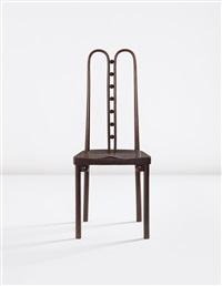side chair, model no. 371, designed for the kunstschau wien, vienna by josef hoffmann