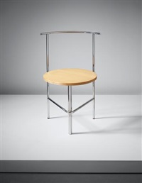 three-legged chair b', model no. r108 by shiro kuramata