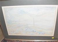 landscape with telegraph pole (+ 4 others; 5 works) by david smith