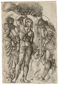 saints sebastian, anthony, and roch by jean duvet