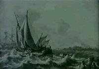 navires devant un estuaire by hendrik rietschoof