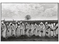 the line, ferguson prison, texas; untitled (from conversations with the dead (set of 2)) by danny lyon