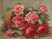 cesto di rose rosse by licinio barzanti