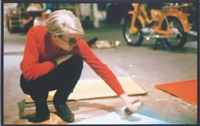 andy warhol at the silver factory by nat finkelstein