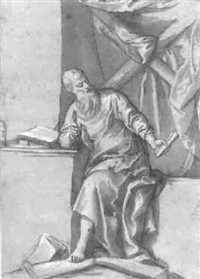 a philosopher in his studio: archimedes (?) by benedetto caliari