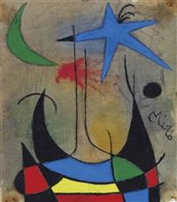 femme amoureuse de l'étoile filante by joan miró