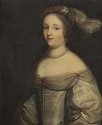 portrait de femme au collier de perles by ferdinand elle