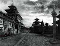 les temples et le palais de patan, nepal by antoine druet