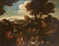 moïse et le buisson ardent by josé antolinez