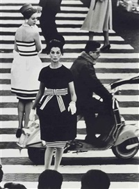 piazza di spagna, simone & nina, rome, for american vogue, april by william klein