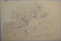 arbre (study) by francois antoine leon fleury