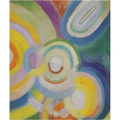 disques colorés portrait de hélène marre verso by robert delaunay